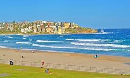 Schitterend beroemd Bondi-strand in Sydney, Australië stock afbeelding
