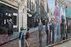 Schitterend detail van graffiti stock foto's