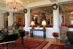 Schitterend die onthaal in lounge voor Kerstmis, Sagamore Resort die, Bolton wordt verfraaid, New York, 2016 landen Royalty-vrije Stock Foto