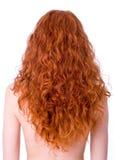 Schitterend krullend rood haar stock fotografie
