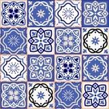 Schitterend naadloos lapwerkpatroon van kleurrijke Marokkaanse tegels stock illustratie