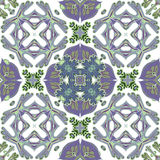 Schitterend naadloos lapwerkpatroon van kleurrijke Marokkaanse tegels, ornamenten Stock Fotografie