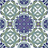 Schitterend naadloos lapwerkpatroon van kleurrijke Marokkaanse tegels, ornamenten Royalty-vrije Stock Foto's