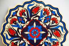 Schitterend patroon van kleurrijke Turkse tegels Ouderwets ontwerp Stock Afbeeldingen
