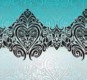 Schitterend uitstekend Zwart & Turkoois ontwerp als achtergrond Royalty-vrije Stock Afbeeldingen