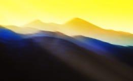 Schitterende abstracte zonsondergang Stock Foto