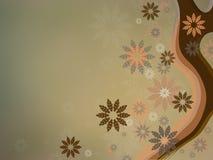 Schitterende achtergrond met speelse bloemen Royalty-vrije Stock Foto