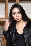 Schitterende brunette Stock Foto