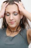 Schitterende brunette 4 stock afbeelding