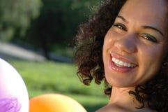Schitterende close-up van een meisje Royalty-vrije Stock Foto's