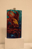 Schitterende fles met een gouden die vis Gr Padrino door lowrider wordt genoemd Stock Afbeelding