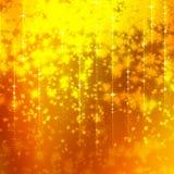 Schitterende gele achtergrond met sterren Royalty-vrije Illustratie