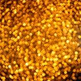 Schitterende gouden lichten Royalty-vrije Stock Foto