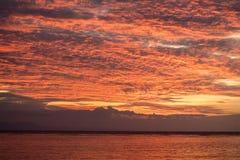 Schitterende Hemel in de Tropische Stille Oceaan stock afbeelding