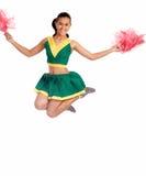 Schitterende jonge cheerleader Royalty-vrije Stock Foto's