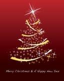 Schitterende Kerstmisachtergrond Stock Foto
