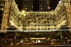 Schitterende Kerstmisdecoratie van het Schiereilandhotel in Hong Kong Royalty-vrije Stock Afbeeldingen