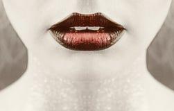 Schitterende lippen Royalty-vrije Stock Afbeelding