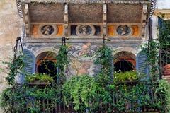 Schitterende Muurschildering bij Piazza delle Erbe Stock Fotografie