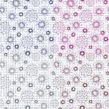 Schitterende naadloze bloemenachtergrond Stock Fotografie