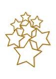 Schitterende sterren veelvoudige kaders Stock Afbeeldingen