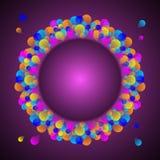 Schitterende vieringskaart met kleurrijke ballon Stock Foto