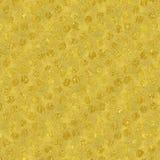 Schittert de Faux Gouden Folie Polka Dots Pattern Stock Foto