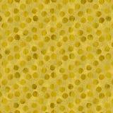 Schittert de Faux Gouden Folie Polka Dots Pattern Royalty-vrije Stock Afbeelding