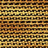 Schittert de Faux Gouden Folie Strepenstippen Royalty-vrije Stock Afbeeldingen