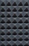 Schiuma assorbente acustica per la registrazione dello studio Forma della piramide fotografie stock libere da diritti