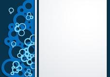 Schiuma blu del fondo di arte di Papper illustrazione di stock