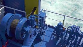 Schiuma del mare dal traghetto di galleggiamento stock footage