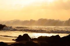 Schiuma dell'onda Fotografia Stock