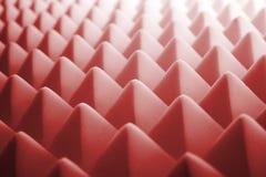 Schiuma fonoisolante - colore rosso fotografia stock