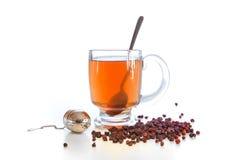 Schizandra tea, Schisandra chinensis. Schizandra tea with dried berries. Schisandra chinensis is considered in the Chinese Medicine as one the 50 fundamental Royalty Free Stock Photos