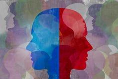 schizofreni royaltyfri illustrationer