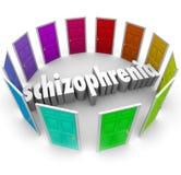 Schizofreni multipelpersonlighetsstörning för många dörrar Arkivfoton