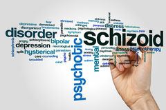 Schizoid word cloud Stock Photo
