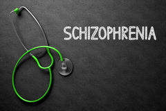 Schizophrenia Concept on Chalkboard. 3D Illustration. Stock Image