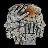Schizophrenia male head silhouette. Stock Photography