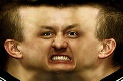 Schizophrenia. Panorama face