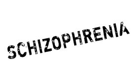 Schizophrenia rubber stamp Stock Images