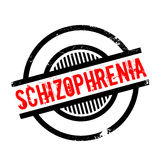 Schizophrenia rubber stamp Stock Image