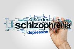 Schizophrenia word cloud concept Royalty Free Stock Photos