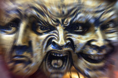 Schizophrenie - Verrücktheit - Ausdrücke stockfotografie