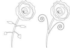 Schizzi dei fiori illustrazione di stock