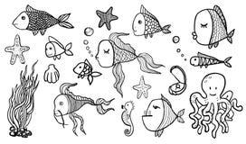 Schizzi del pesce Fotografie Stock