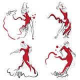 Schizzi di ballo di flamenco Fotografie Stock