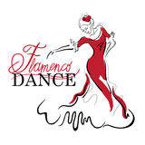 Schizzi di ballo di flamenco Fotografia Stock Libera da Diritti