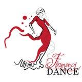 Schizzi di ballo di flamenco Fotografie Stock Libere da Diritti